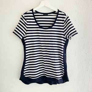Nautica Short Sleeve Striped Shirt Nautical L